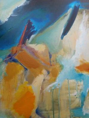 Fleuve 1Huile et Acrylique 50x65