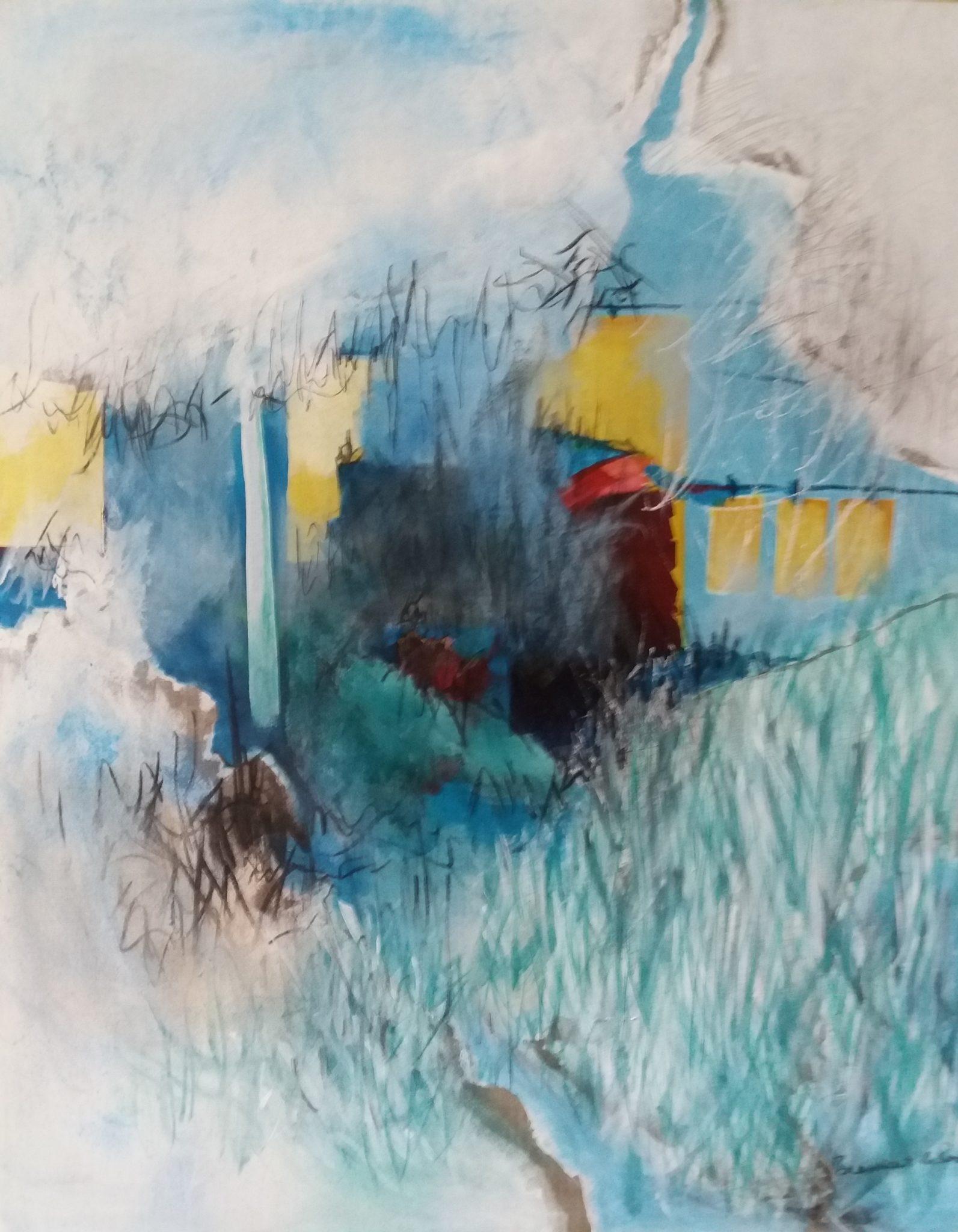 Demeure 2 – Technique mixte sur toile – 80×100