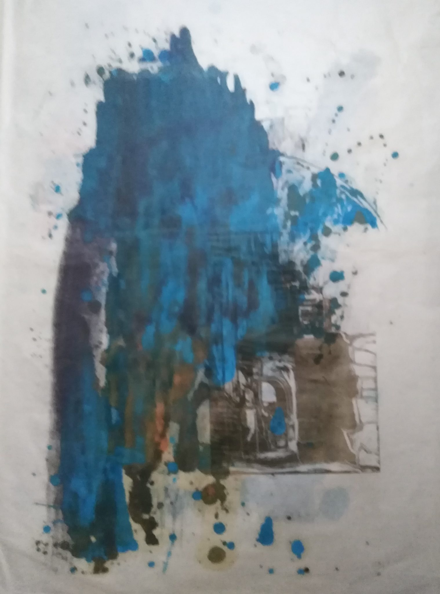 Estampe Jumièges 2 – Monotype – 90×120