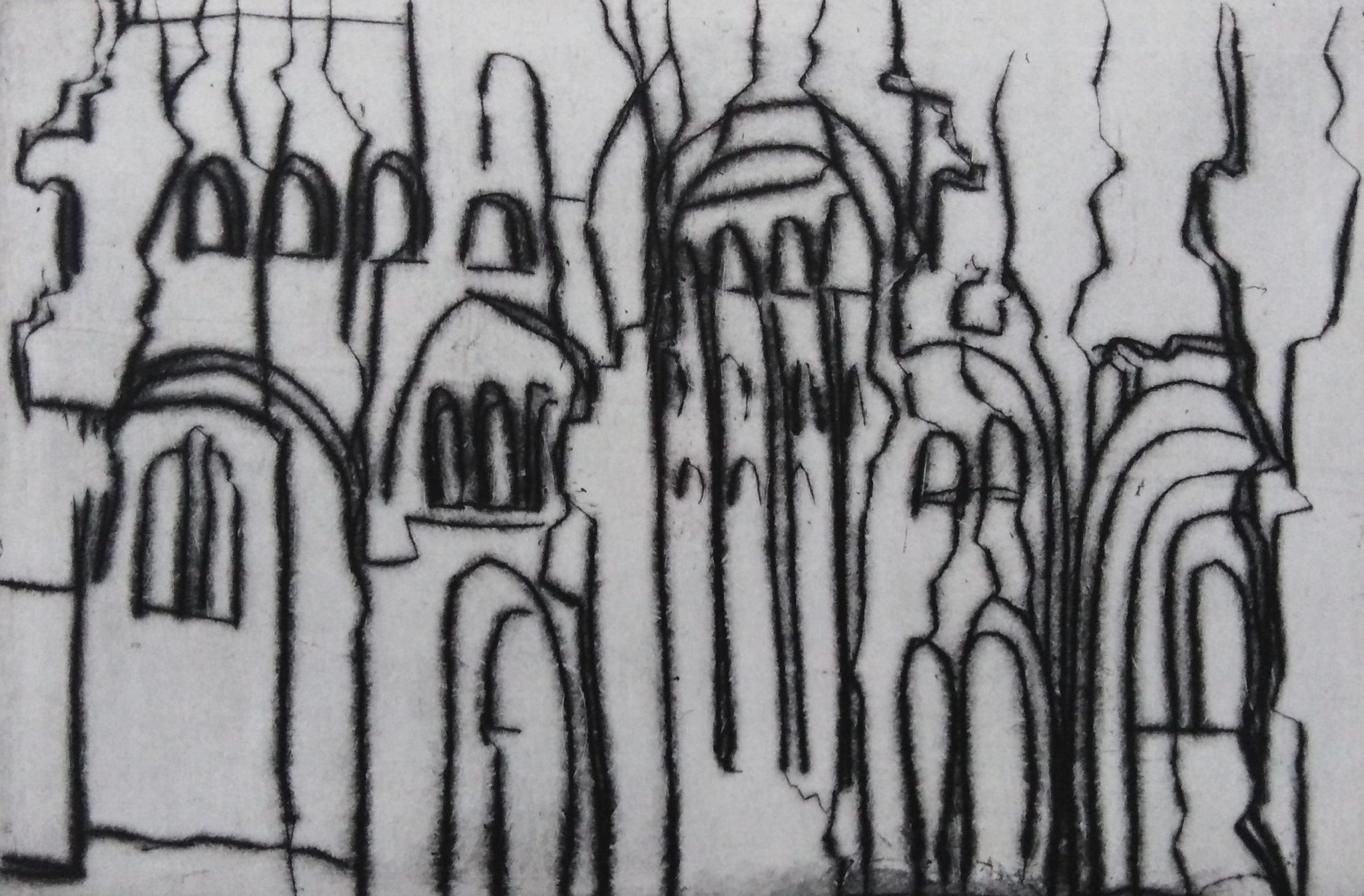 Le chant Jumièges I – Burin – 10×15