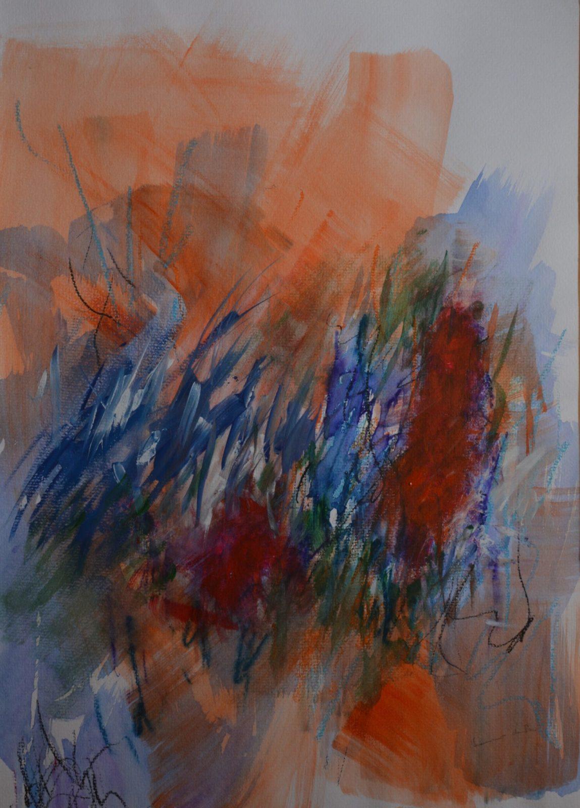 Emerveillements 1-Aquarelle et Pastel -50×65