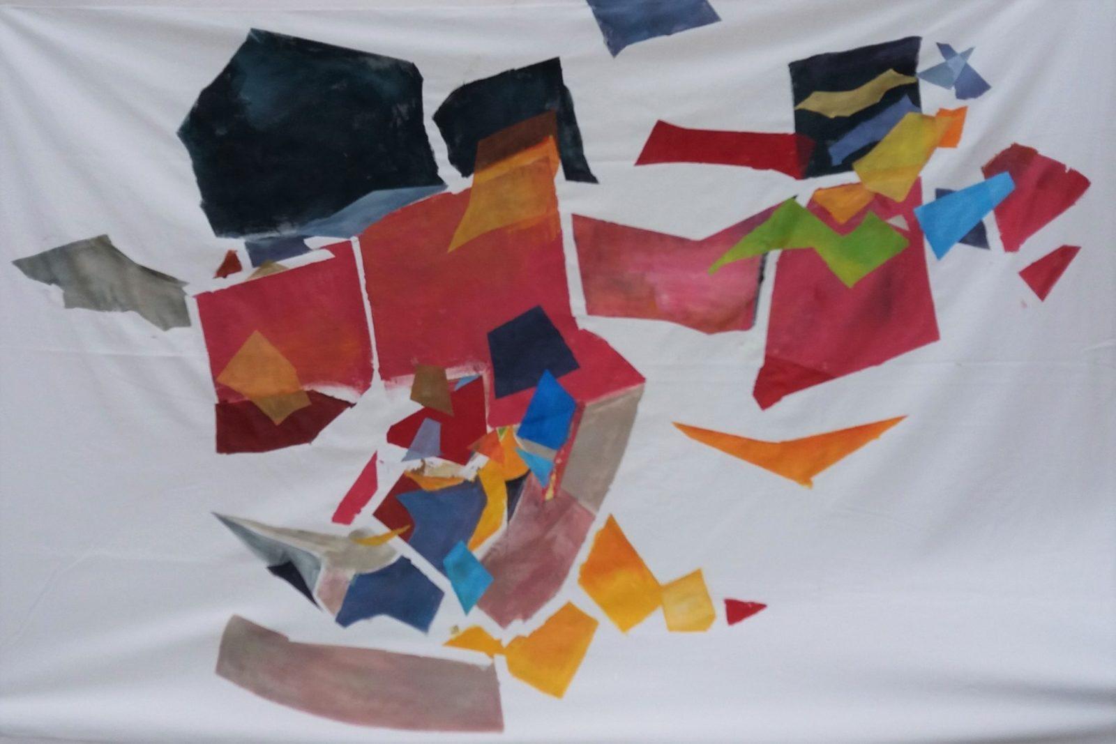 Arlequin des Airs – Acrylique sur Toile -150×210