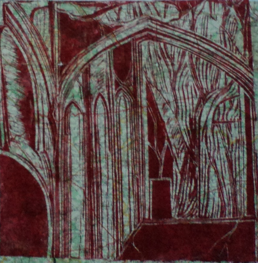 Géographie et musique de l'Abbaye 2 – Lino – 50×50
