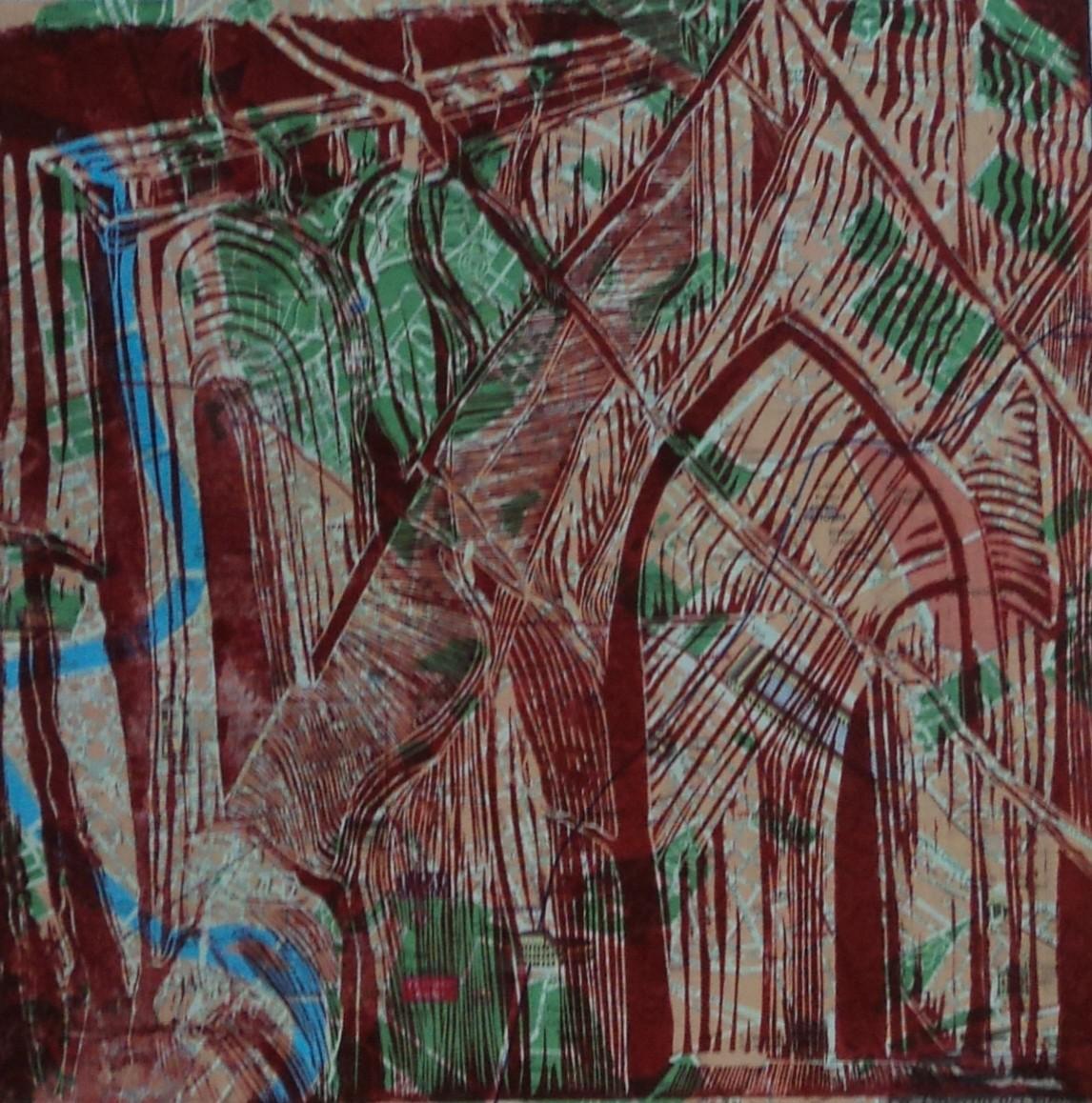 Géographie et musique de l'Abbaye – Lino – 50×50