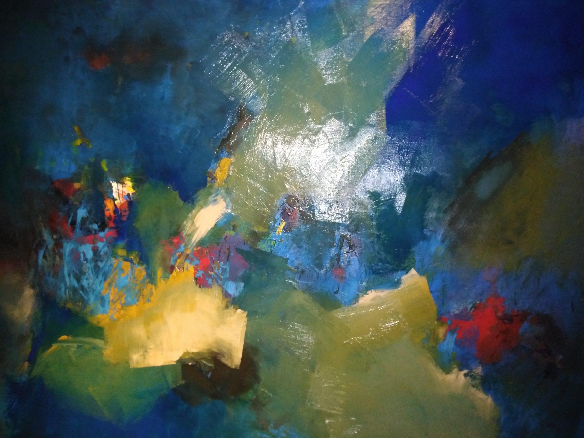 Vivre – technique mixte sur toile – 90×120