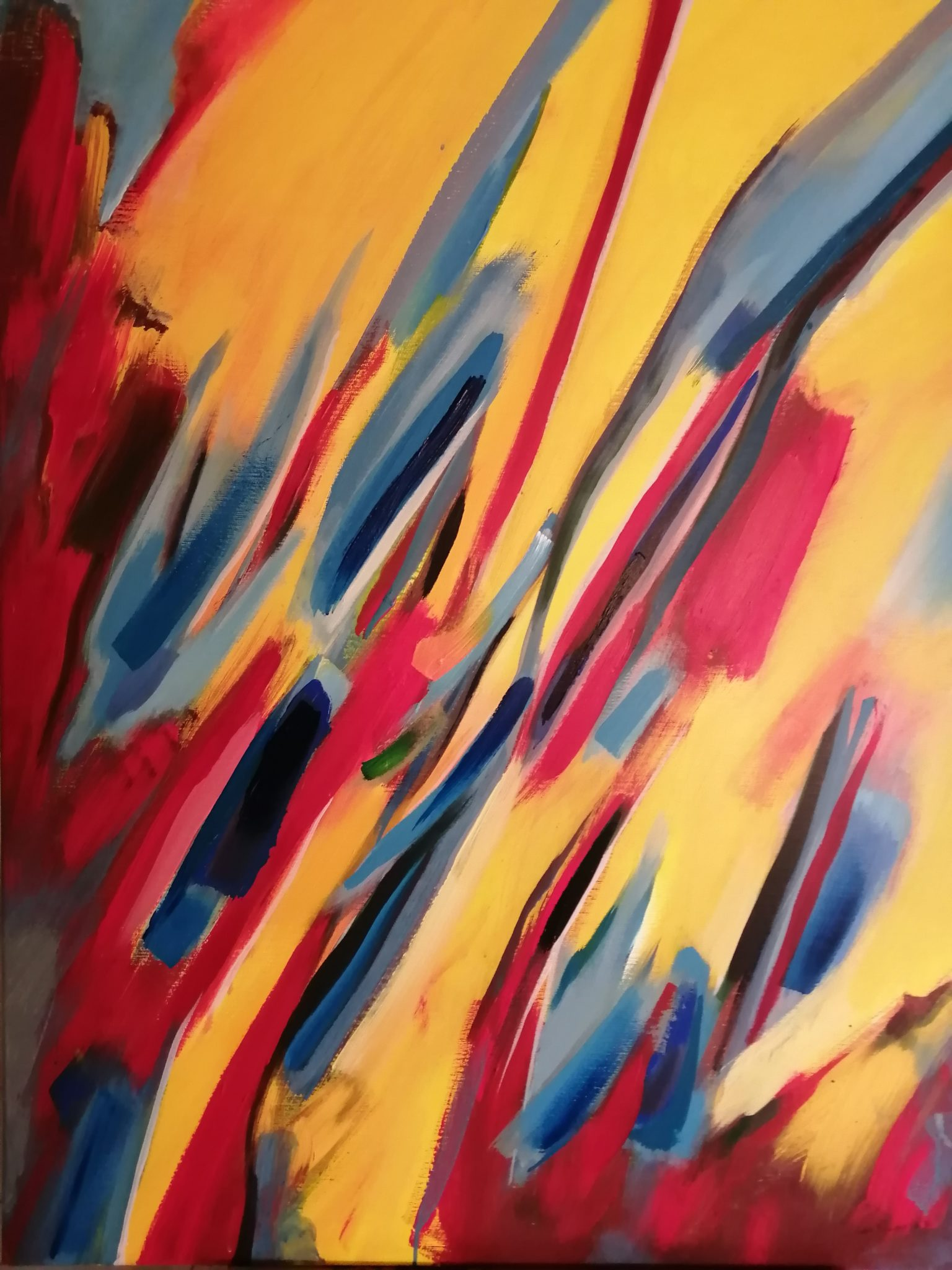 Energie de la Terre 4- Acrylique sur toile – 100×120