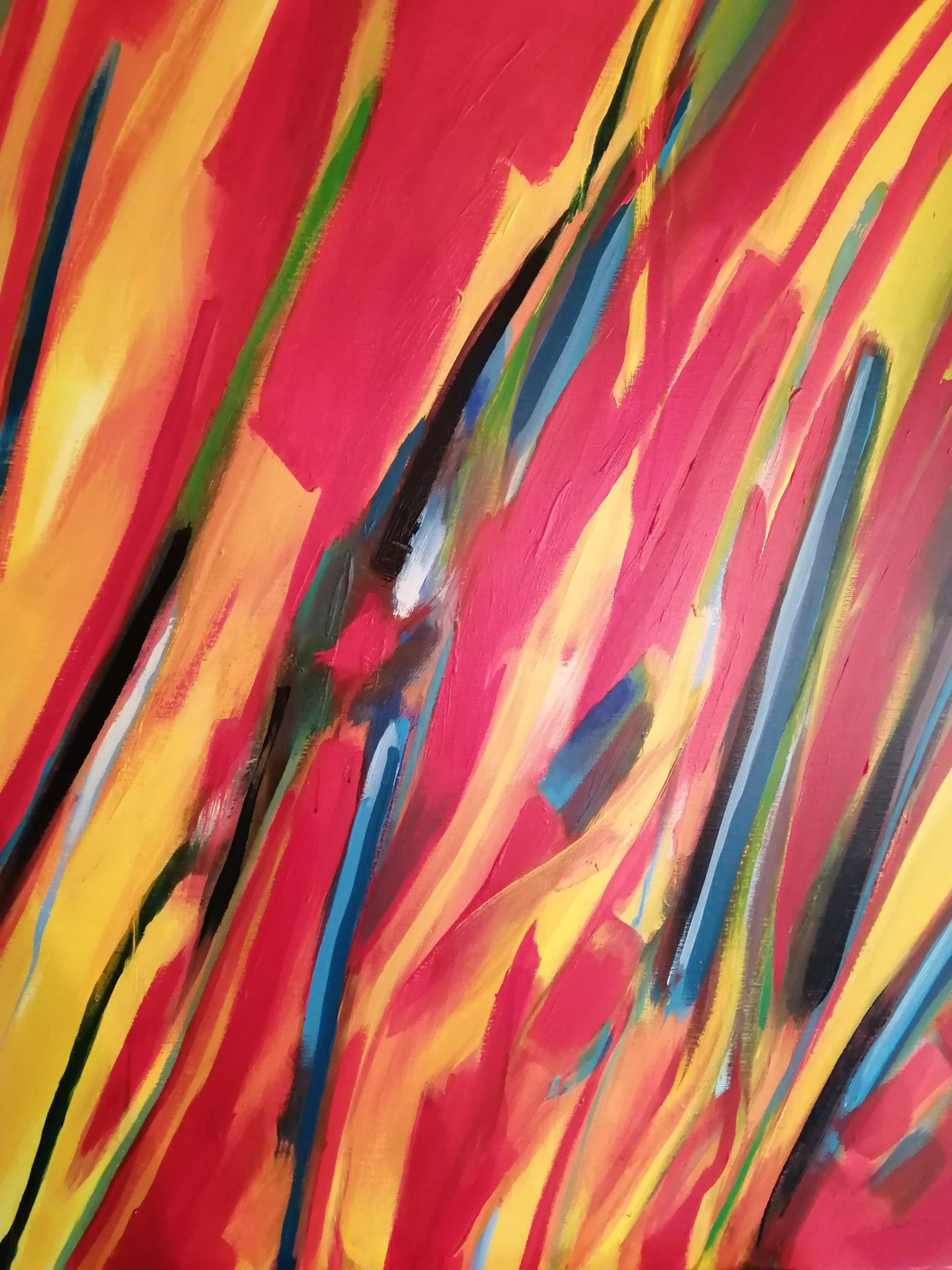 Energie de la Terre 3- Acrylique sur toile – 100×120