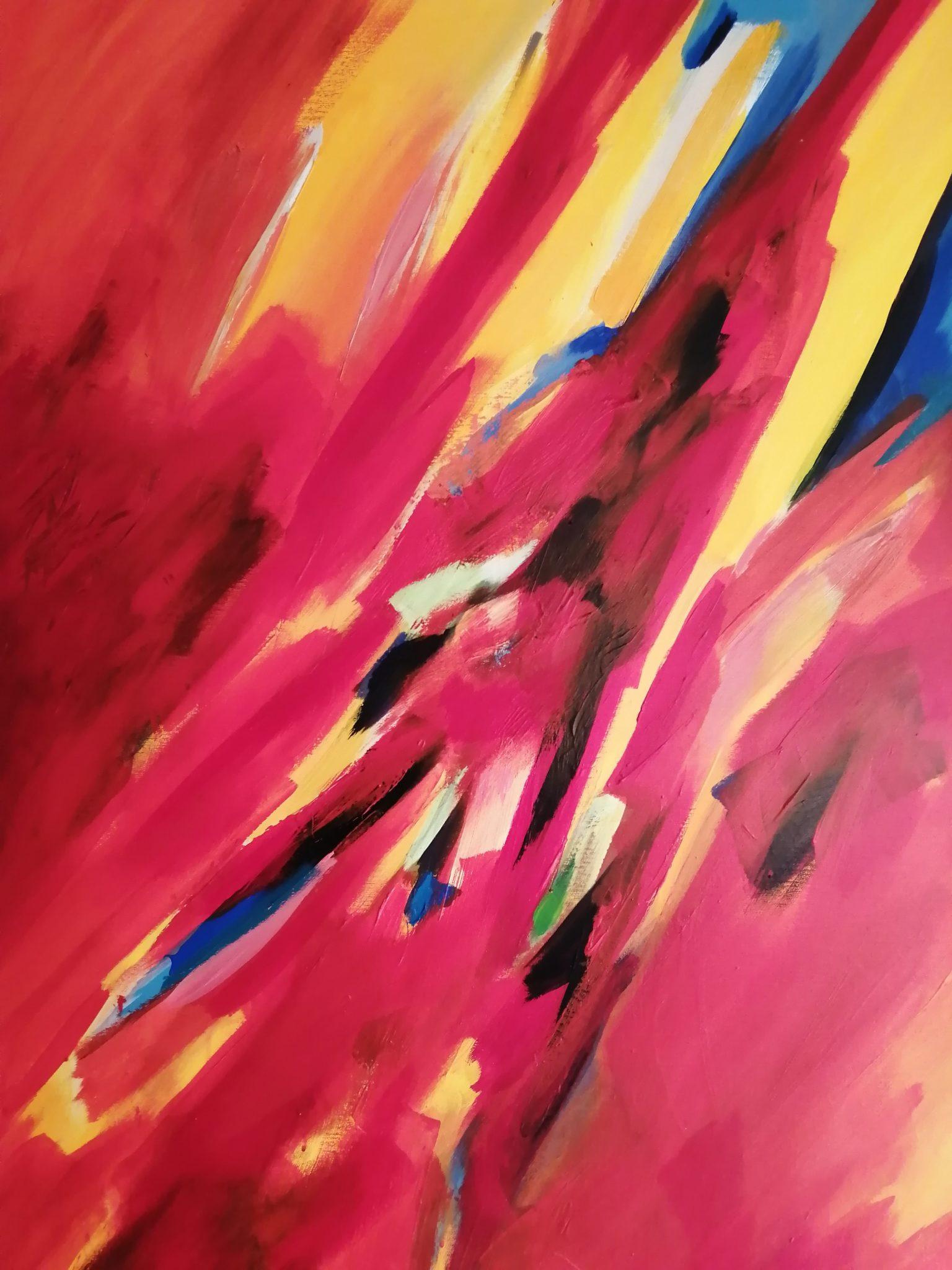 Energie de la Terre 2- Acrylique sur toile – 100×120