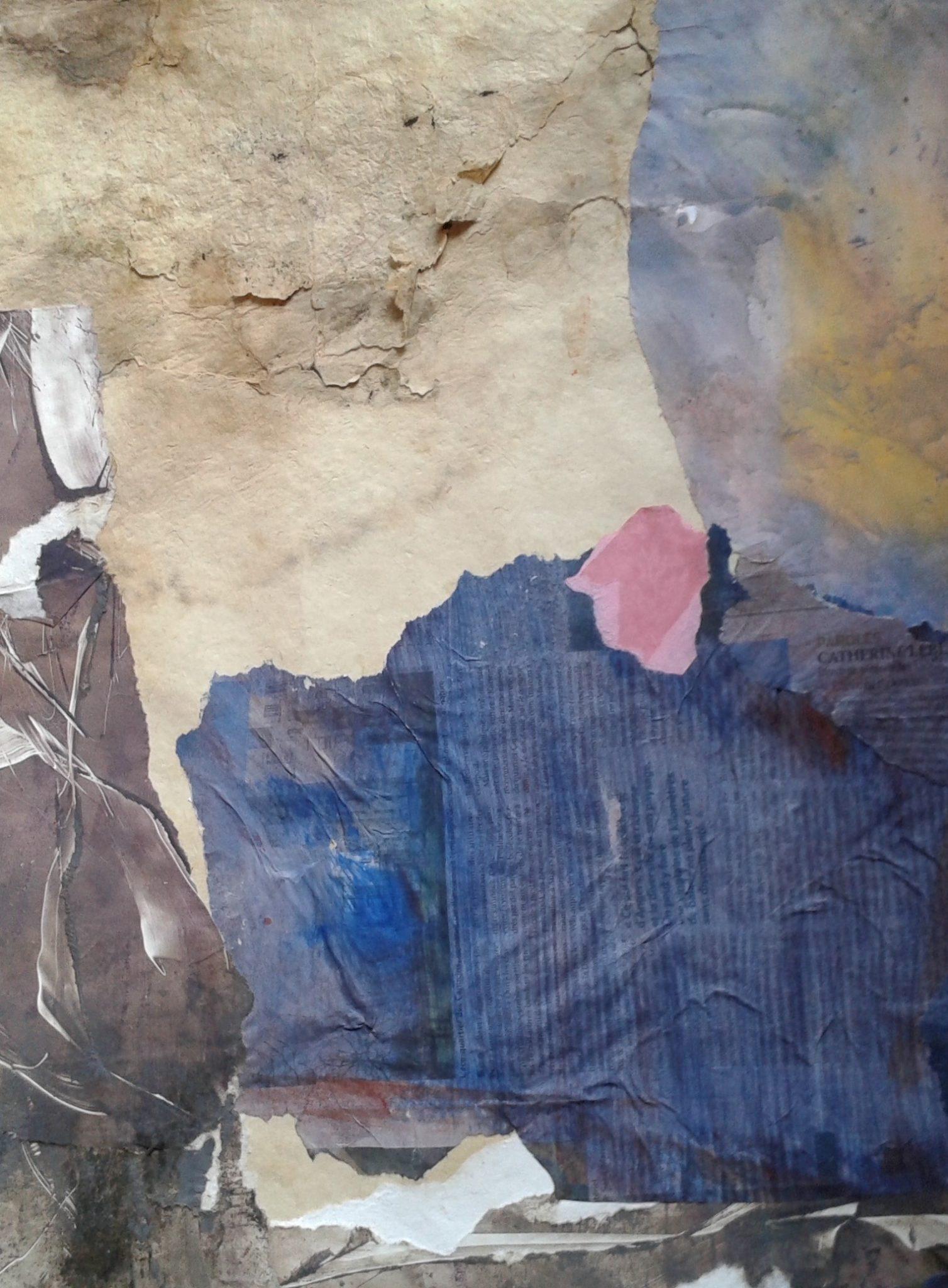 Horizons – Collage sur Papier -70×80