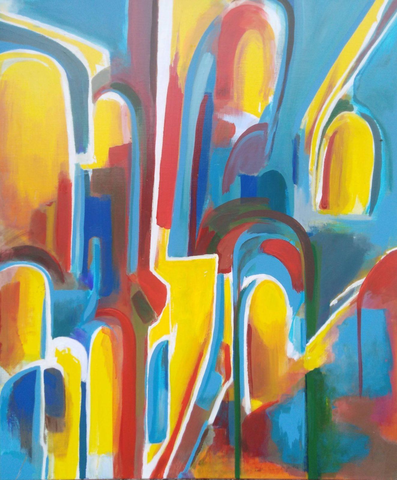 Passages de Lumière 1- Acrylique sur toile- 130×100
