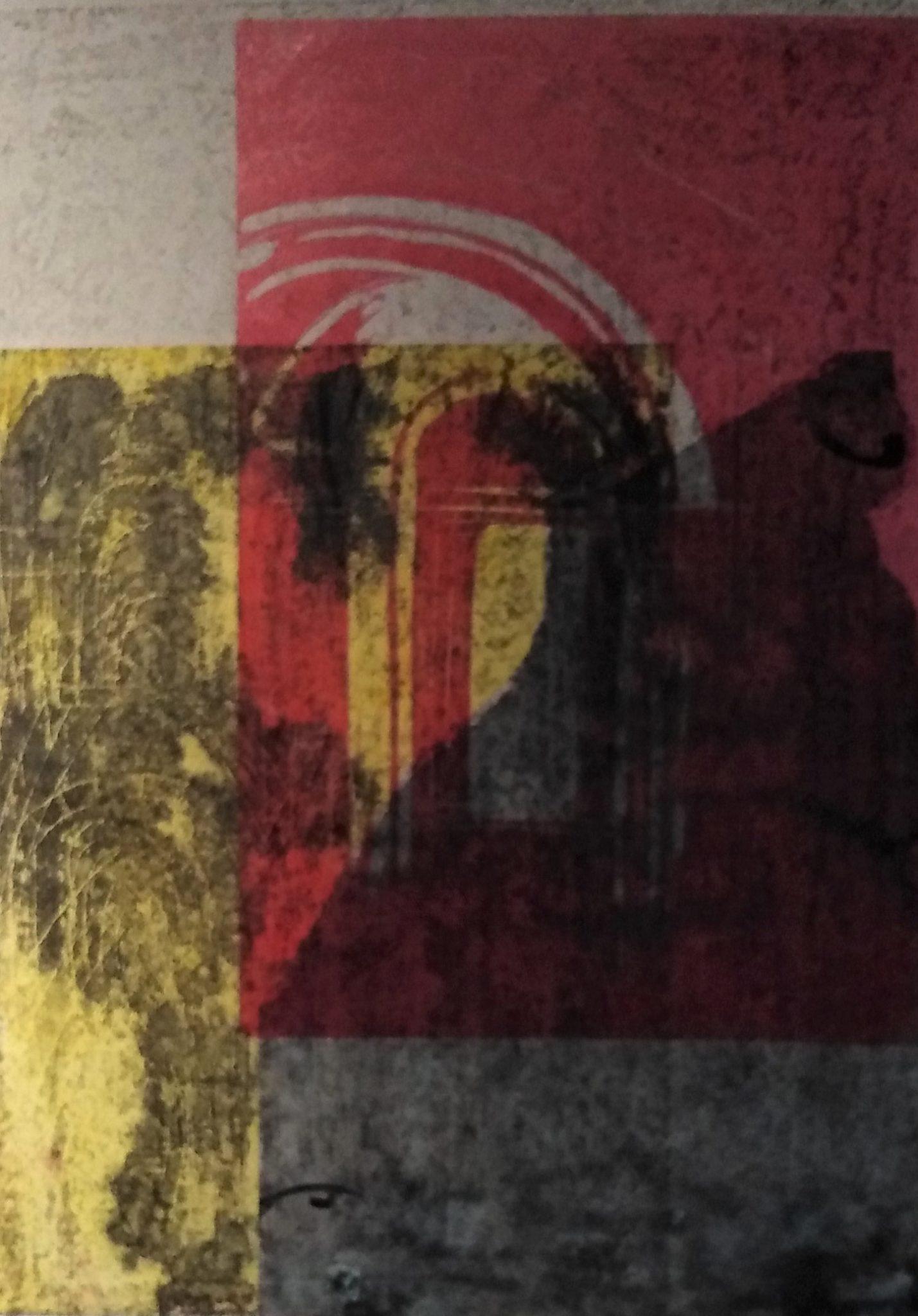 Ombre des couleurs – Eau forte et Lino -50×70