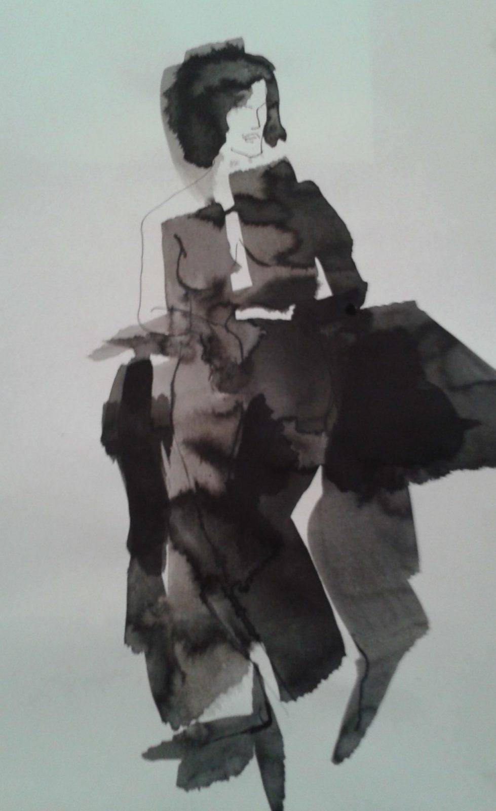 Silhouette 2- Encre sur papier – 40×60