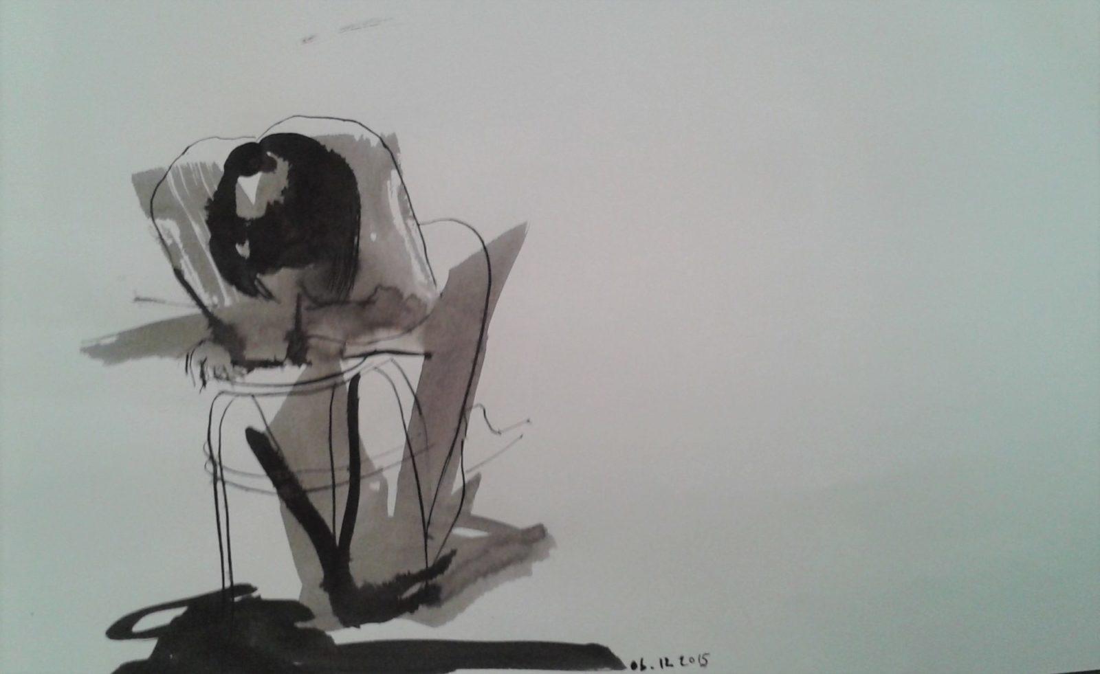 Silhouette 3- Encre sur papier – 40×60