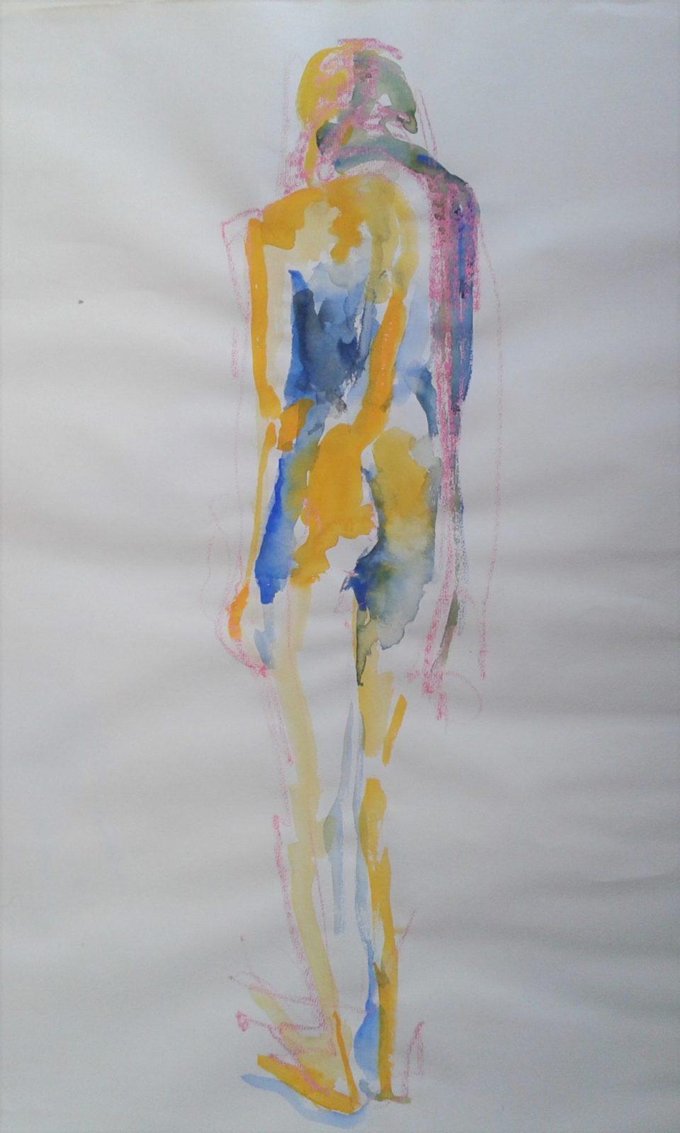 Silhouette – Aquarelle et crayon – 50×65