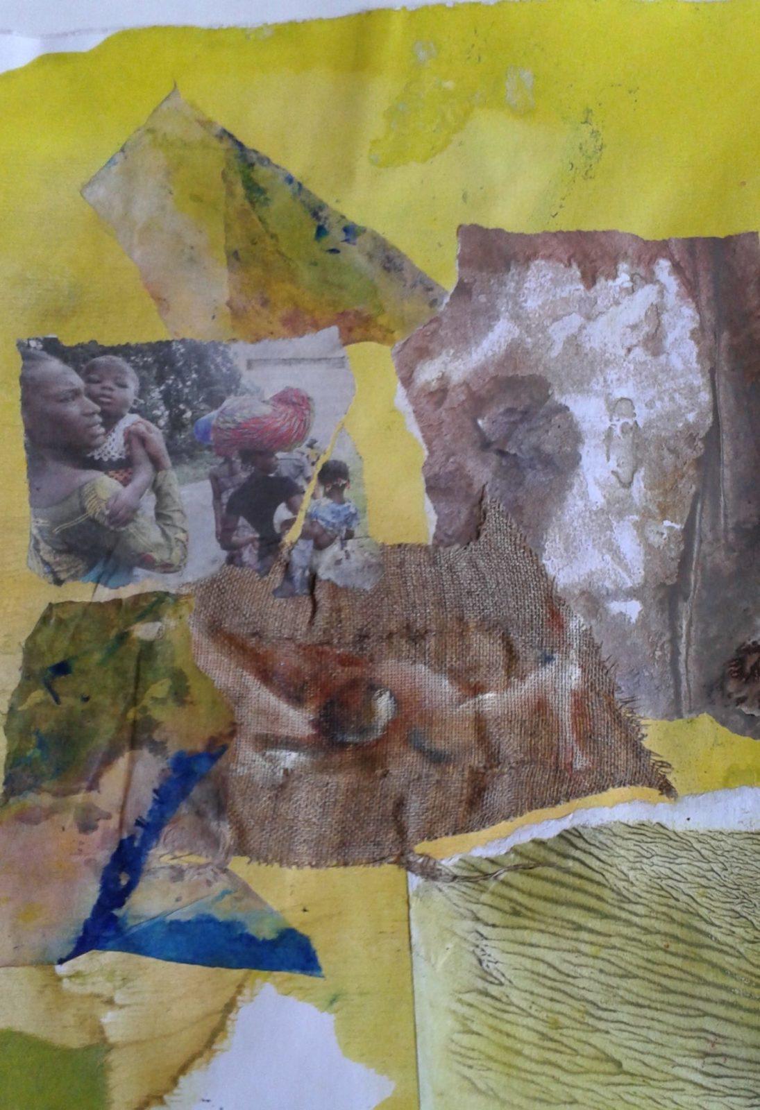 Partir 1 – Collage – 40×50