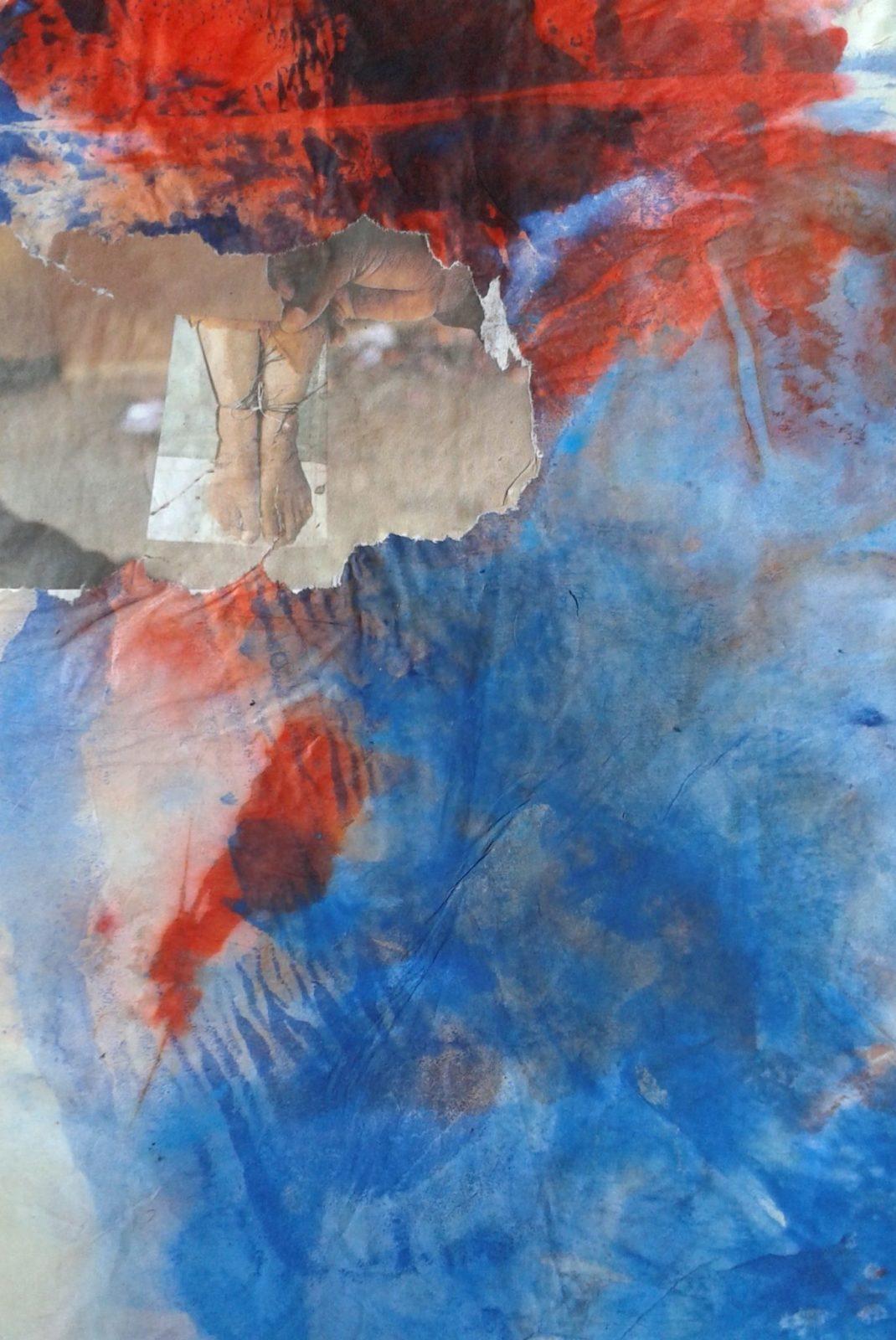 Partir 2 – Collage Monotype- 40×50