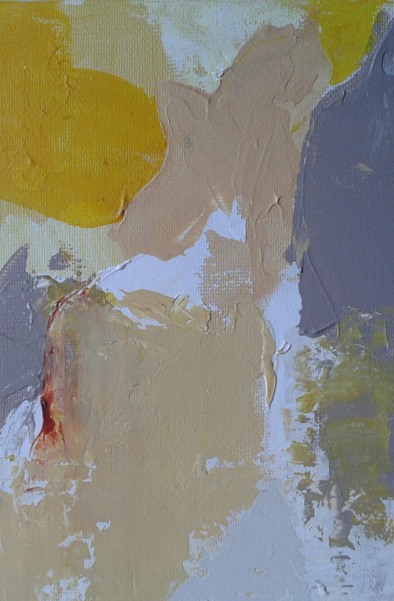 Soleil 1- Acrylique sur Toile – 15×30