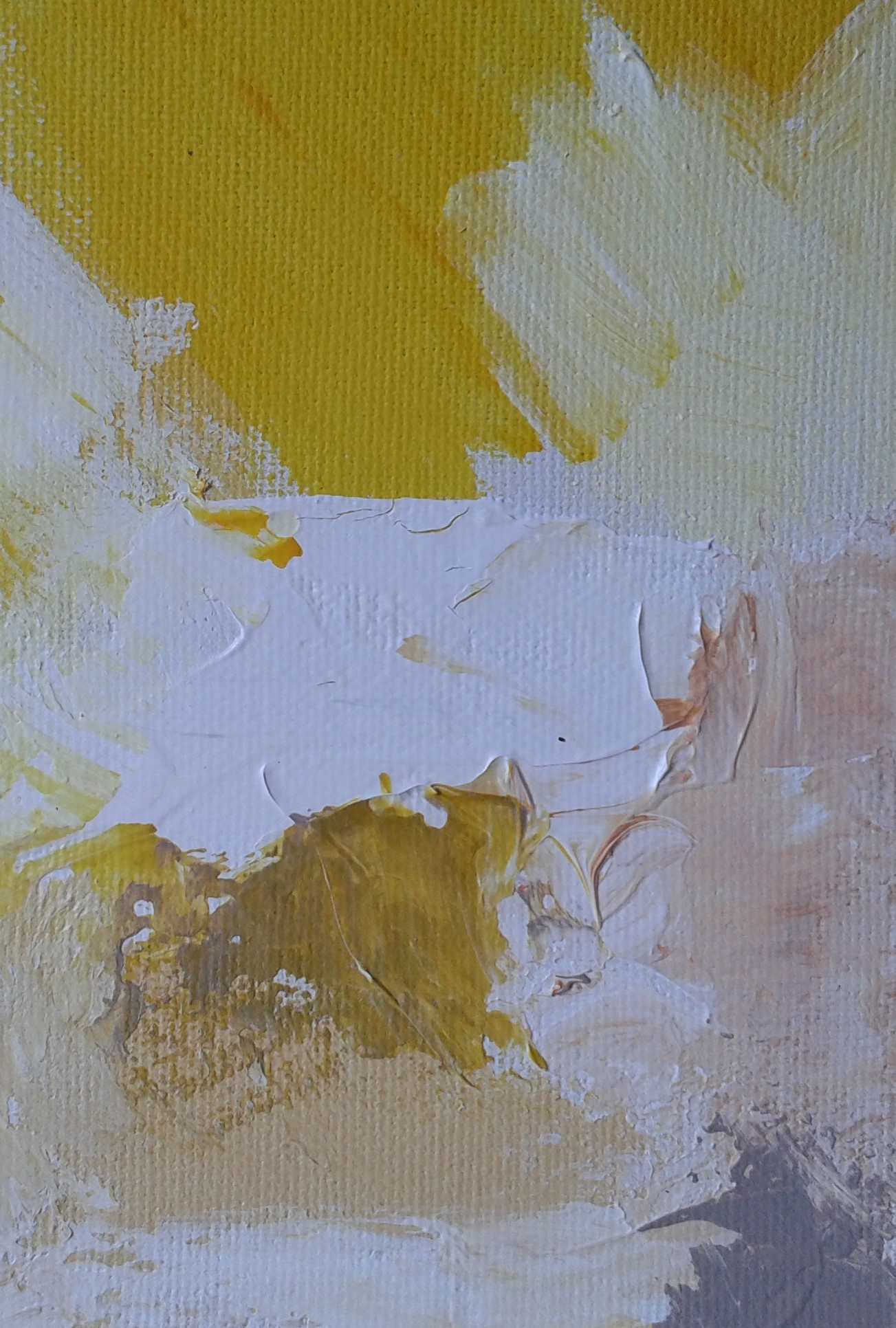 Soleil 2- Acrylique sur Toile – 15×30