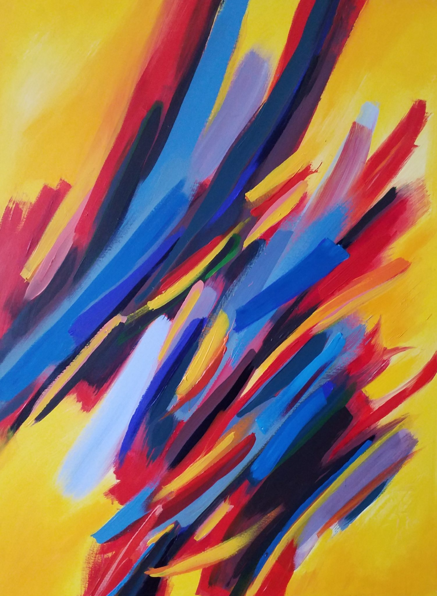 Energie de la Terre 6- Acrylique sur toile – 100×120