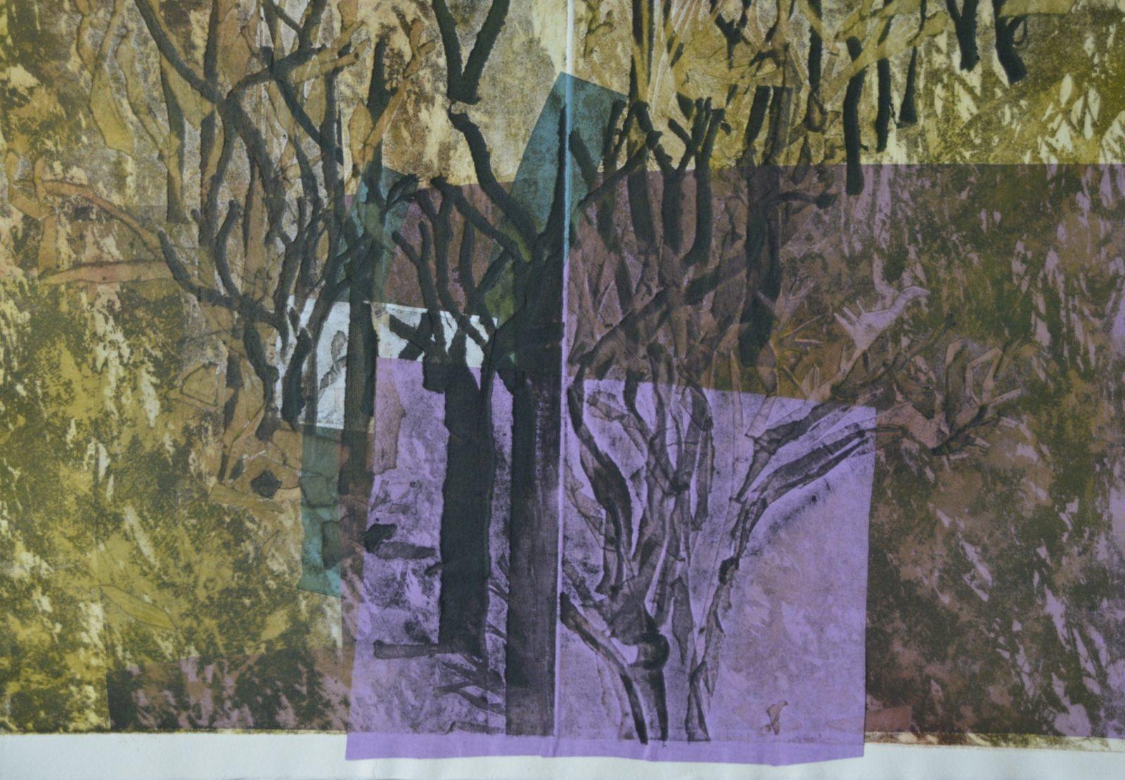 Forêts 1-  Eau forte – 30×40