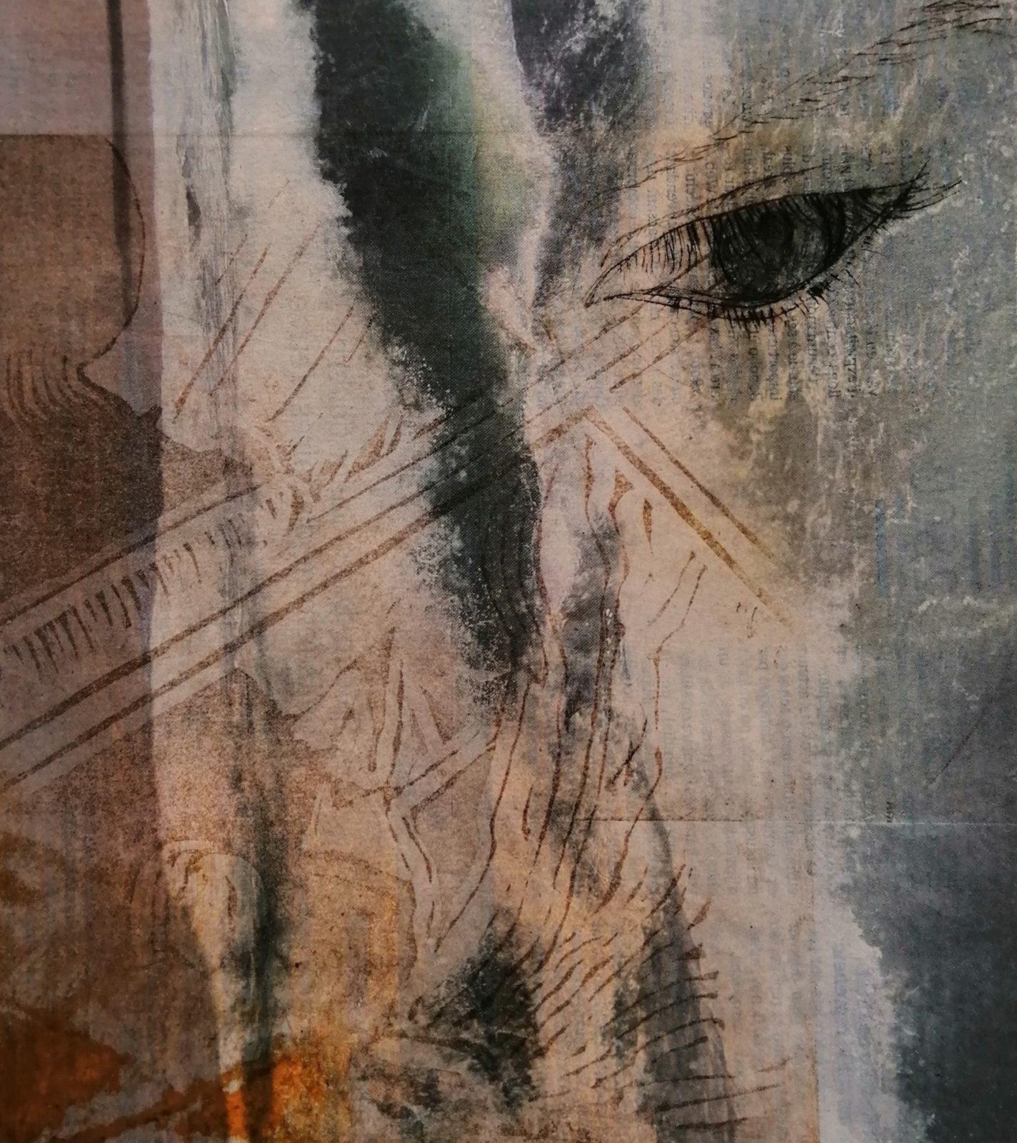 Idées bleues- Projet: la poétique de l'image – 30×40