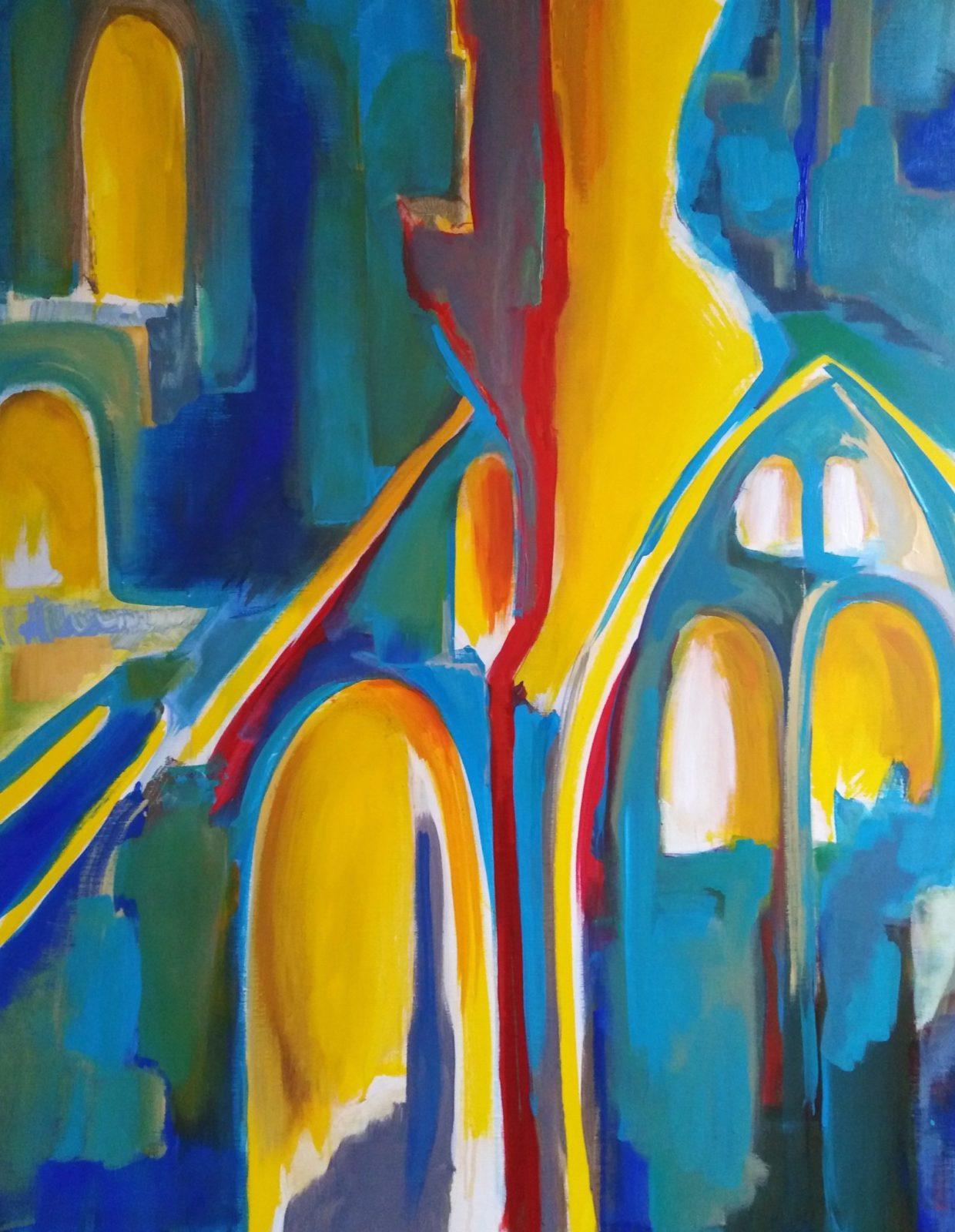 Passages de Lumière 2- Acrylique sur toile- 130×100